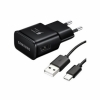 Samsung Fast Charge 15W Travel Adapter USB Type-C to A Cable Negro