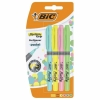 Pack 4 Marcadores Fluorescentes Bic Highlighter Grip Pastel