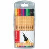 Pack de Rotuladores Punta Fina STABILO BOSS 0.4mm Point 88 10 Colores
