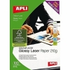Papel Laser Glossy doble Cara A4 100 hojas
