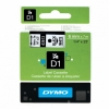 Recambio Dymo D1 43613 Black on White 6mm x 7m